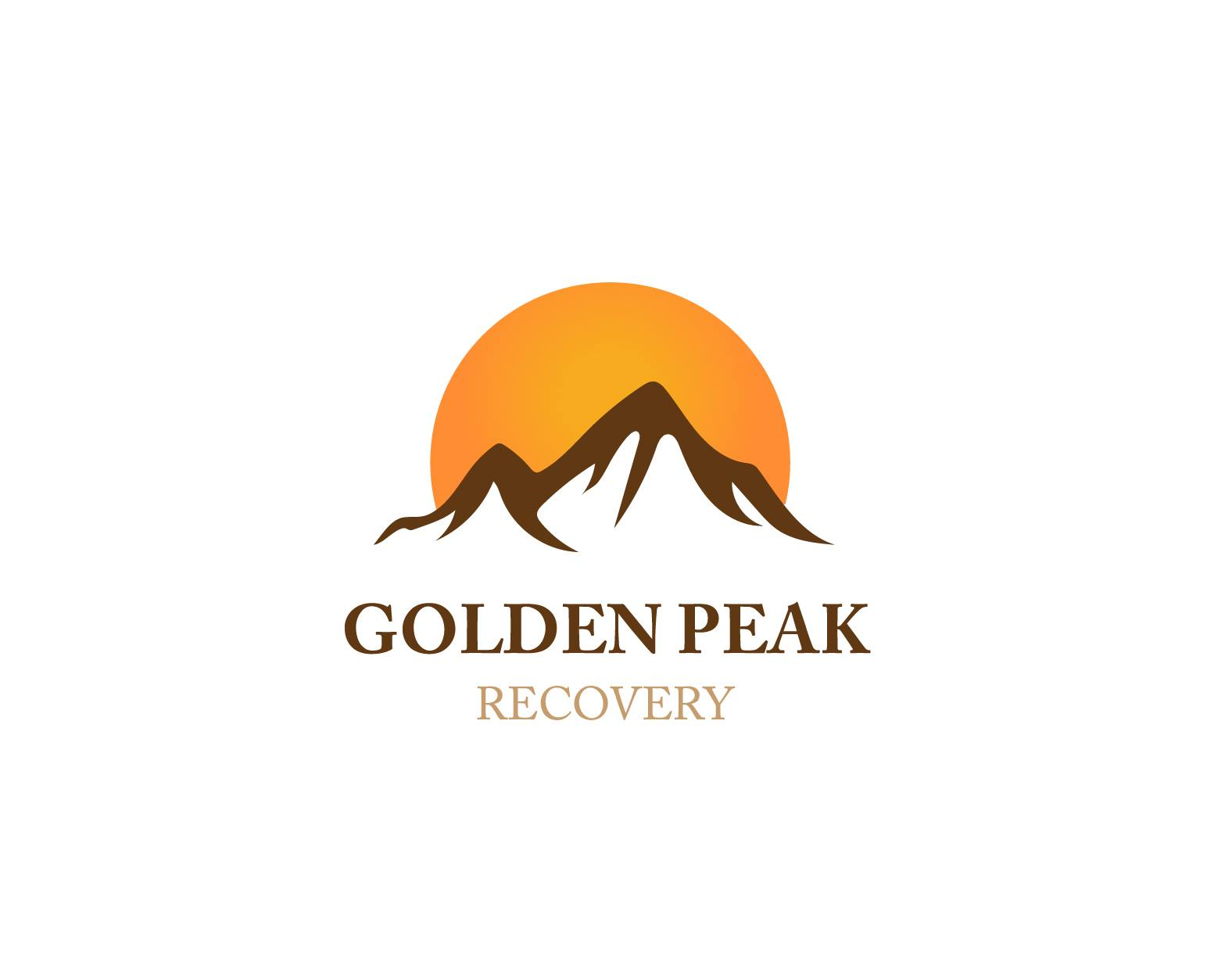 golden peak logo white