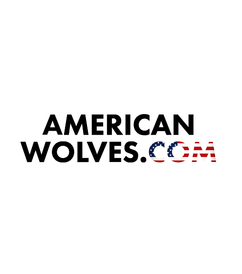 american wolves black text