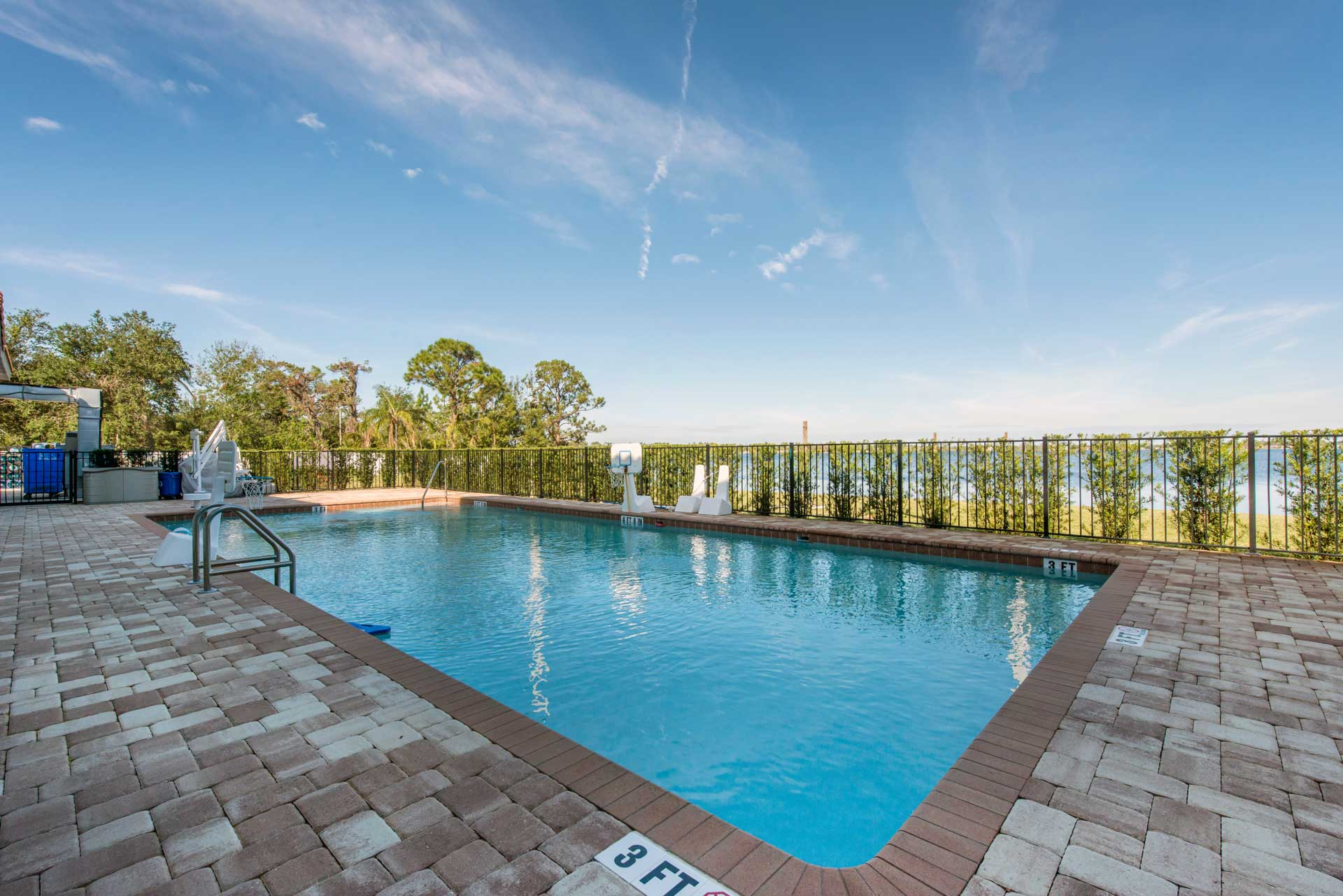 Outdoor swimming area at our teen drug and alcohol rehab facility in Sebring, FL.
