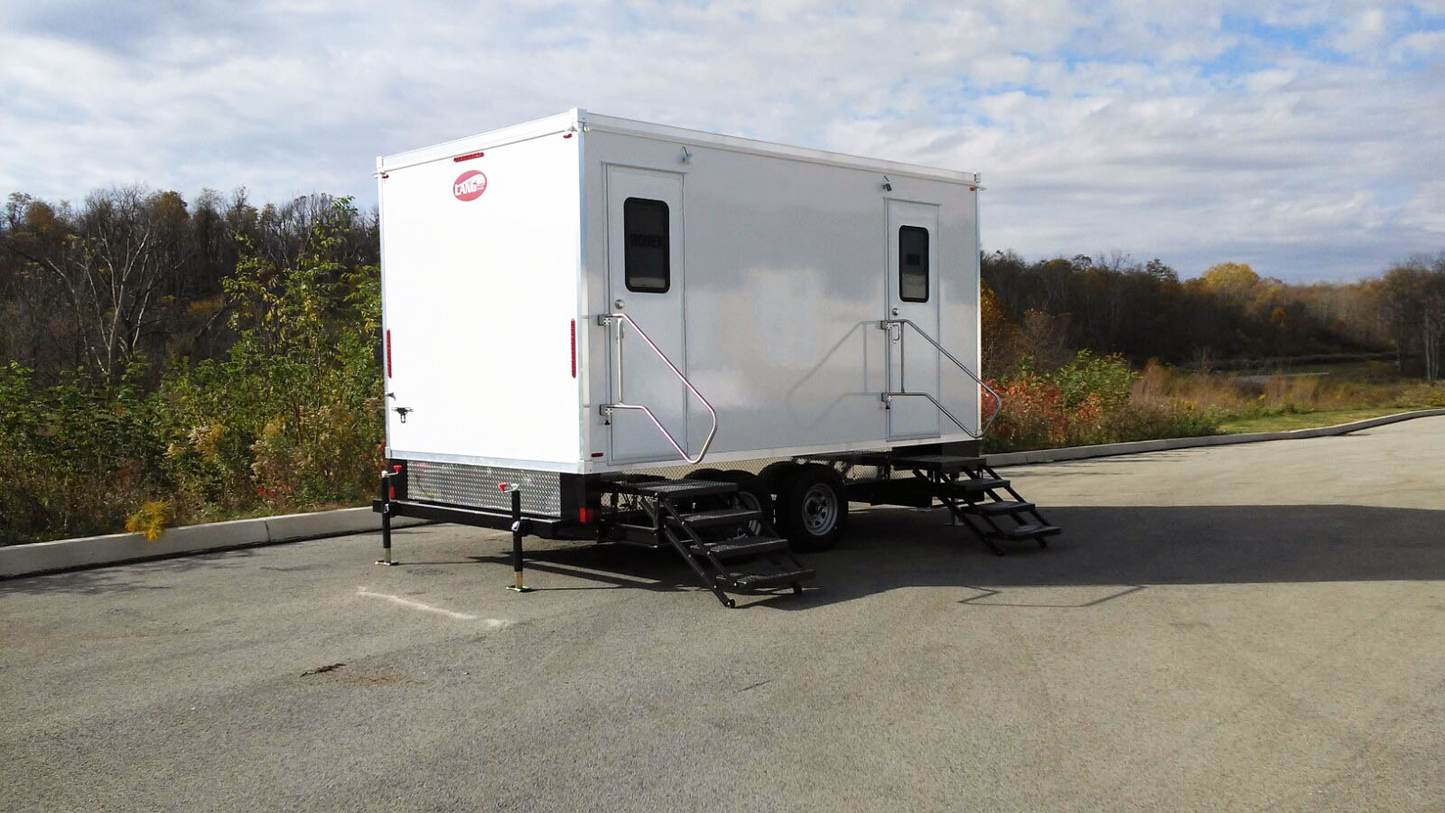 5 station Luxury Mobile Restroom Trailer