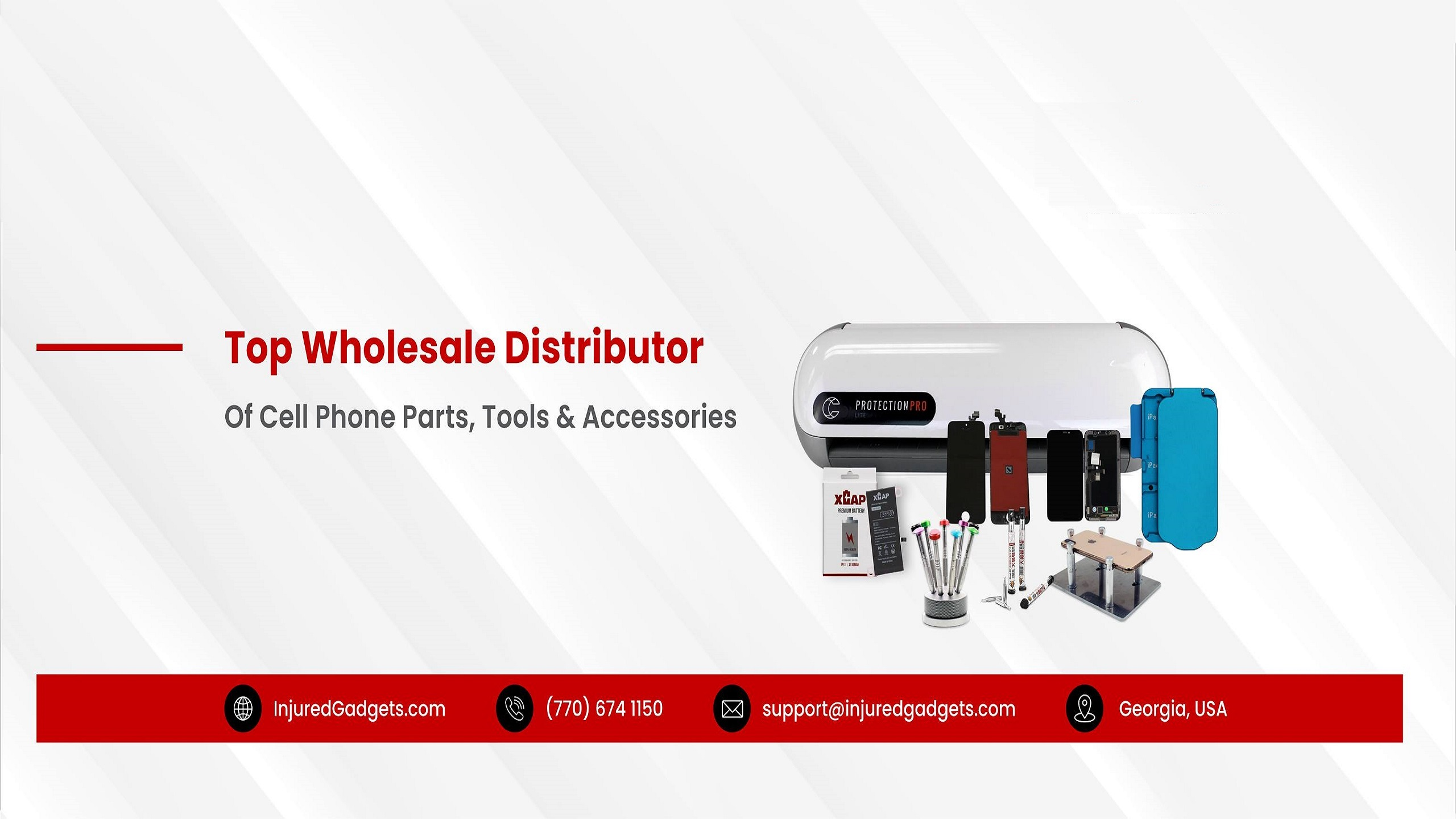 Injured Gadgets Cover - Top wholesaler distributor of Cell Phone Parts, Tools & Accessories