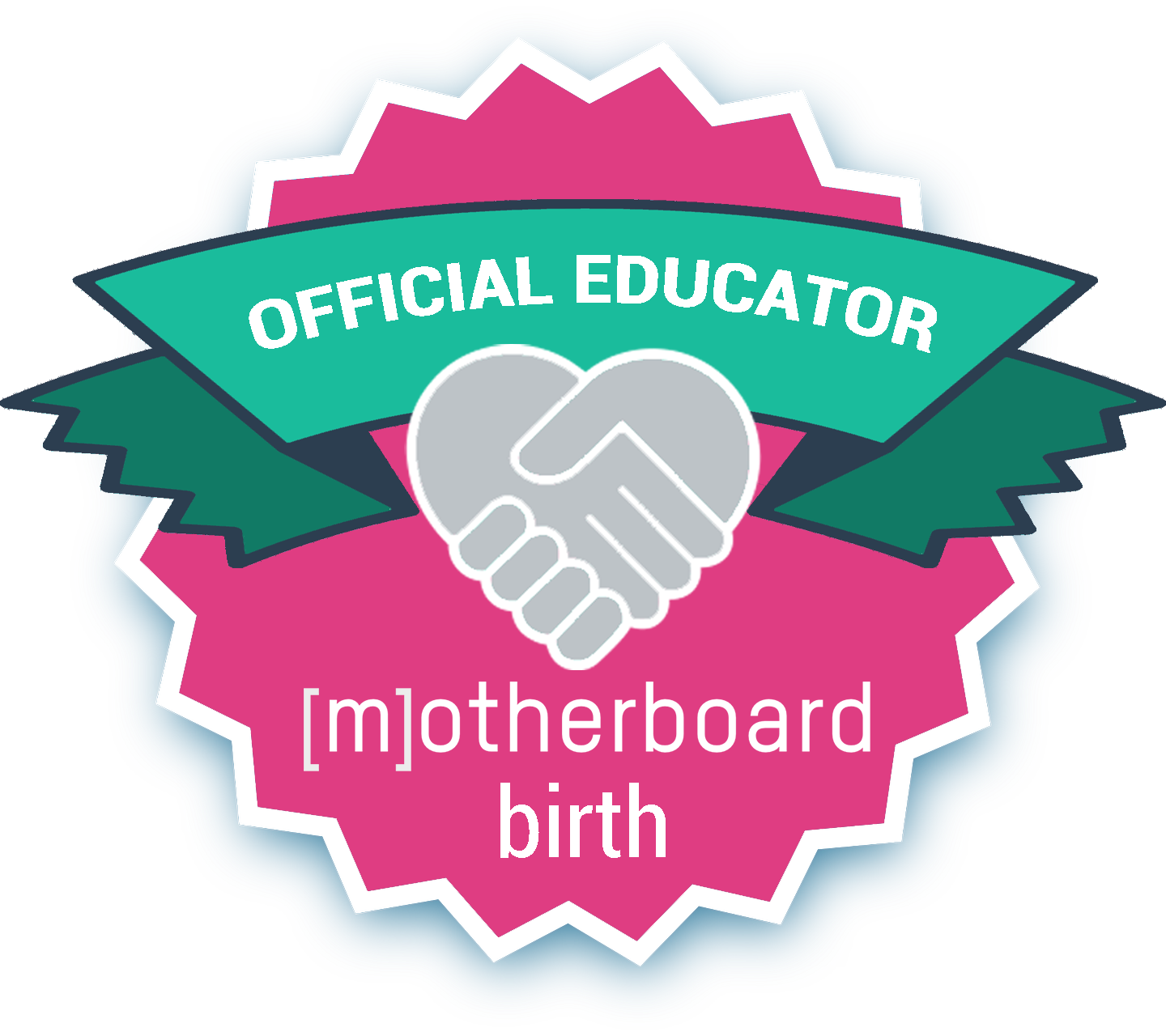 Motherboard Educator Badge pink