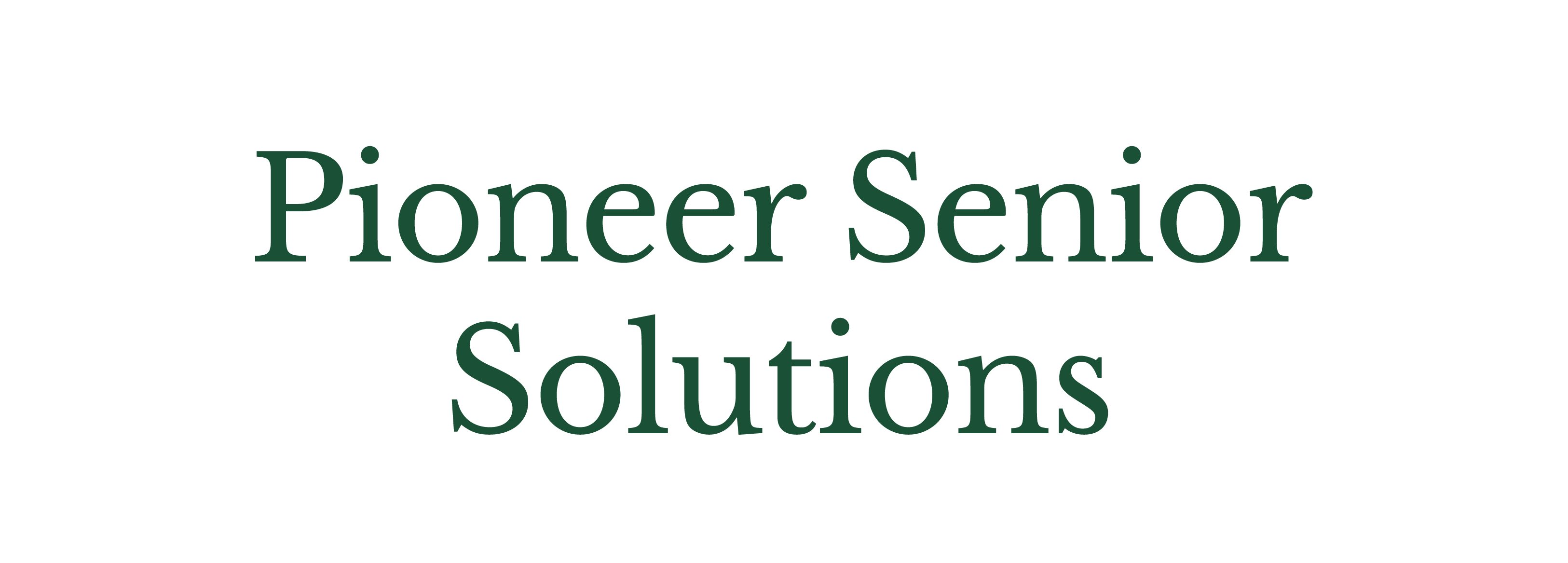 Pioneer Senior Solutions_Logo - Name Only