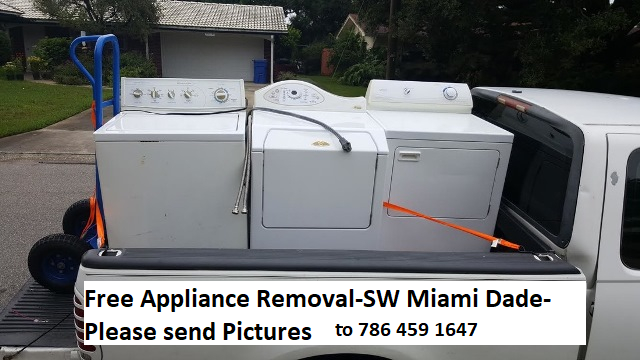 appliance pick up with phone #