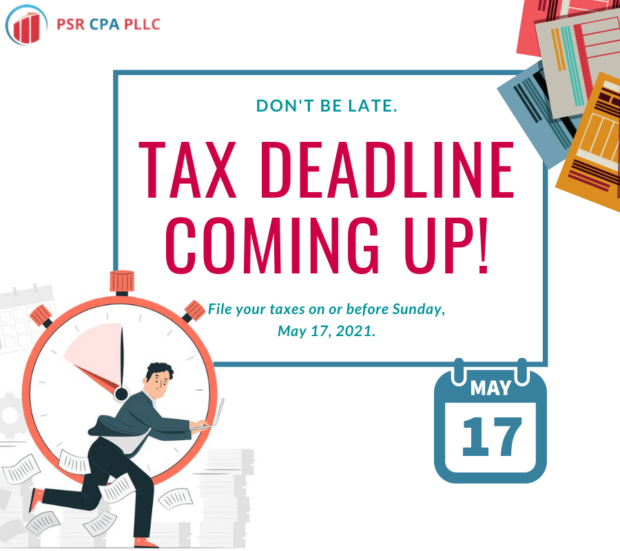 Colorful Files Tax Day Social Media Post